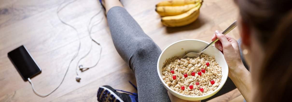 Protein Müsli vor dem Sport